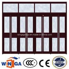 Glass Villa House Security Entrance Steel Glass Door (W-GD-38)