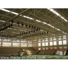 Telhado curvo de grande espaçamento com estrutura de quadro espacial para sala de desporto interior