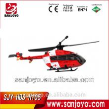 Hubsan H105 4CH 2.4Ghz EC145 helicóptero rc de un solo rotor (TX con LCD)