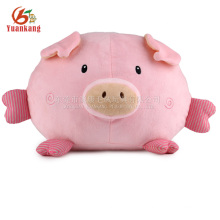 China fabricante de pelúcia bonito squeaky recheado brinquedo macio porco rosa