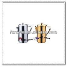 T147 2000ml Stainless Steel/Gilded Pitcher With Hinged Lip