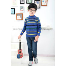 Striped Patterned Ribbed Collar & Cuffs Children Clothing