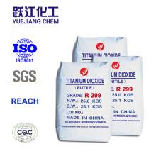 Superior a largo plazo Resistencia a la intemperie Rutilo Dióxido de titanio Especial para PVC-U