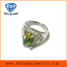 Millefiori Glass e Multi CZ Casting Ring
