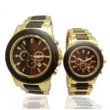 Hlw044 OEM Men′s and Women′s Wooden Watch Bamboo Watch High Quality Wrist Watch
