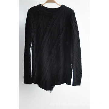 Winter Long Sleeve Knit Puullover Sweater for Ladies
