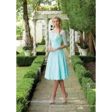 Vente en gros de bonne qualité simple à manches longues courte ligne de robes de demoiselle d'honneur LBS11