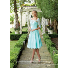 Wholesale Good Quality Simple Long Sleeve Short A Line Bridesmaid Dresses LBS11
