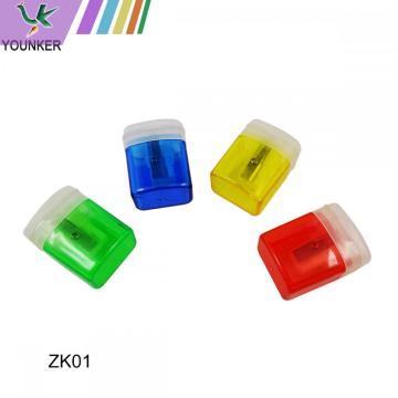 Petit Shapener de crayon multicolore en plastique multicolore-12Pack