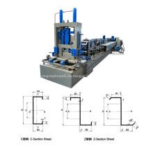 Máquina perfiladora de perfiles en Z de acero Z