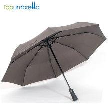 Parapluie automatique 3 plis ouverts et fermés