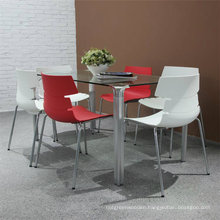 Glass Table Plastic Chair Furniture Set for Home Office (SP-DST601)