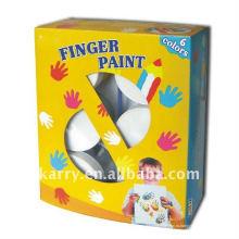 Краски пальчиковые 6 цветов 100мл для детей не-токсичные DIY