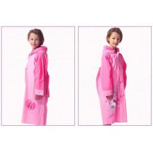 Benutzerdefinierte gedruckt EVA Kinder lange Schultasche Regenmantel