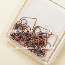 memo clip heart shaped paper clips office supply