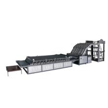 Semi-auto high stand flute laminating machine