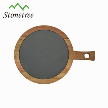 New design cheeseboard black slate cheese board with natural surface