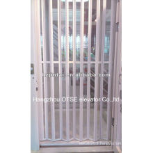 Elevator interior folding doors