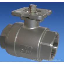 Из нержавеющей стали двухкусочный шариковый клапан с высокой платформы (шариковый Клапан 2pc)