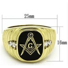 Modeschmuck Freimaurer West Western Style 5 # -17 Ring