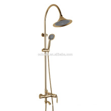KT-06J new arrival bathroom fitting with single handle brass mixer ceramic valve wall mounted shower and bath set rain shower