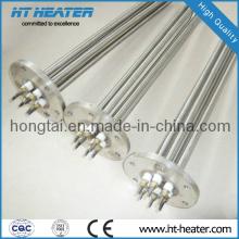 Calentador de inmersión de brida plana de alta temperatura