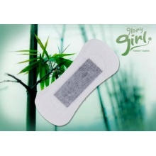 Disposable bamboo panty liner for women