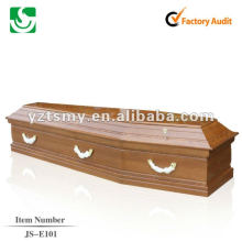 cheap cremation wooden coffin with gloss JS-E101