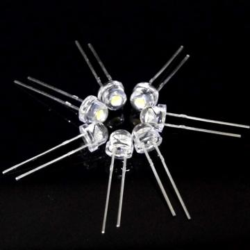 5mm vita LED-lampor 6-7lm ren vit
