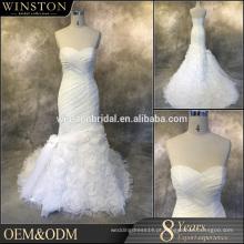 China fábrica OEM vestido de noiva com manga curta