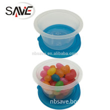 10PK, Eco-Friendly Plastic small size round bento box with lid 6080