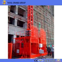 Grua da construção da grua do passageiro da gaiola do dobro de Sc200 / 200 2ton