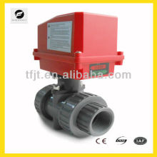 Electric 2 way UPVC ball valve forSolar thermal,under-floor,rain water,irrigation,plumbing service,hot water heating