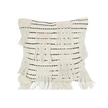 almohadas decorativas con flecos de borla