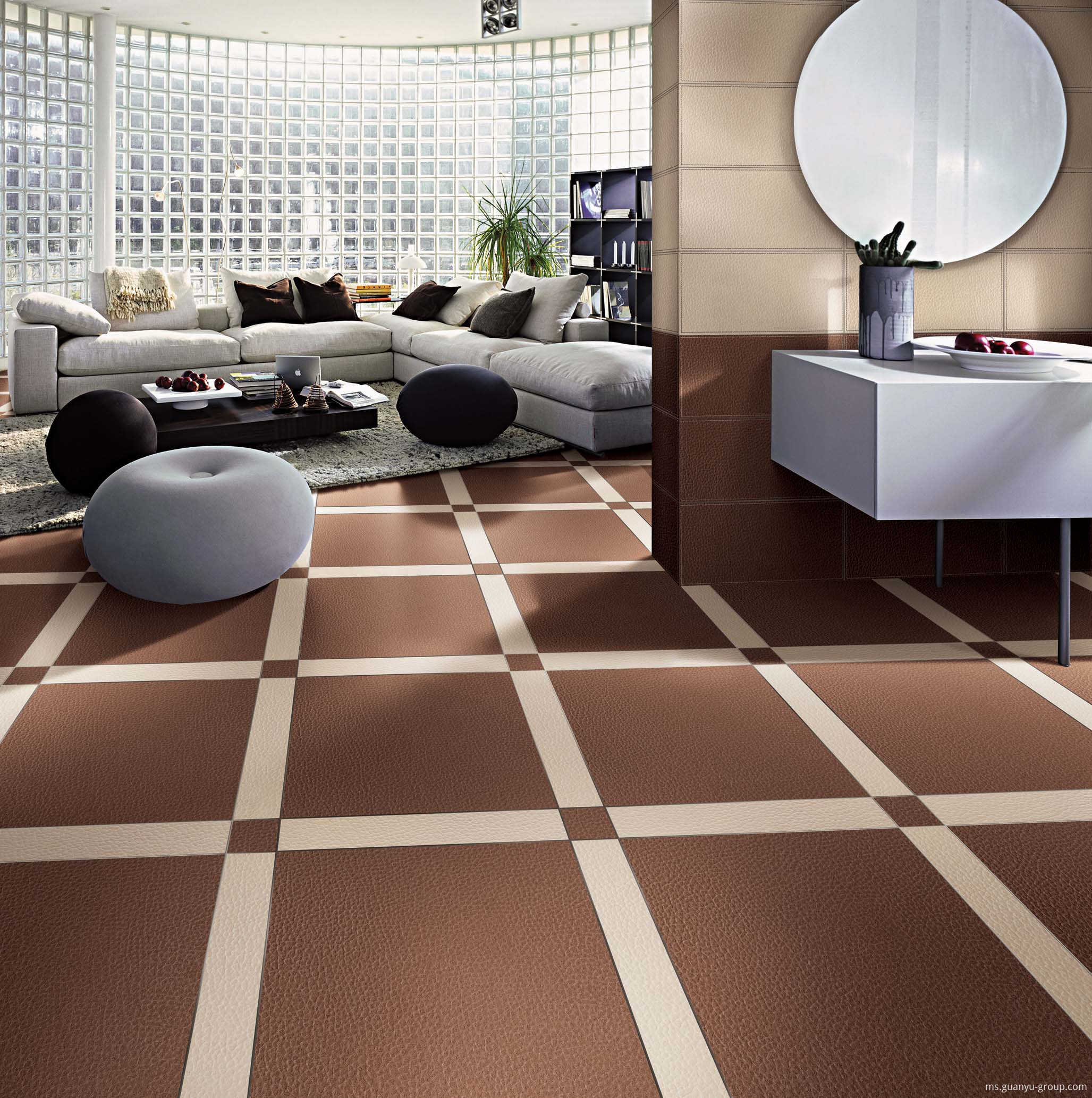 Luxury Leather Rustic Floor Tile Design
