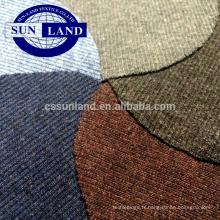 coton 2x2 côtelé et spandex teint en fil
