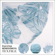 Пользовательские логотип дешевые элегантные декоративные полиэстер тюль ткань для свадебного платья