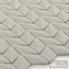 Placa para salpicaduras de azulejos de mosaico de vidrio de diamante gris claro