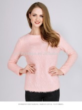 PRETTY STEPS 2016 alibaba hot sale light pink pullover sweater designs for girls women