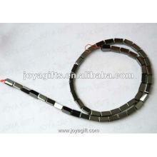 """4x8MM Loose Magnetic Hematite Square Beads 16"""""""