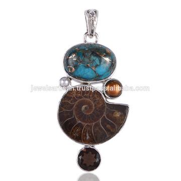 Pendentif en argent sterling avec pendentif turc