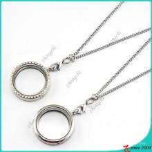 Heißer Verkauf Silber Runde schwimmende Charms Medaillon (FL16040824)