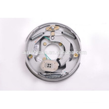 Complete 10''x1/4'' electric brake assembly for trailer (back plate surface treatment:Dacromet)