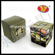 OEM impresso logotipo caixa personalizada e embalagem quadrado mágico cubo para a promoção