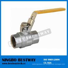 Válvula de bola bloqueable de cobre amarillo con el precio de alta calidad (BW-L09)