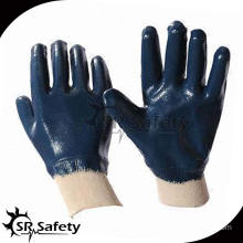 SRSAFETY blue nitrile fully dipping heavy duty protection glove