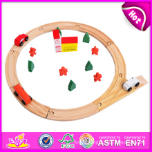 Wooden Railway Baby Toy Train Toy for Baby W04c010
