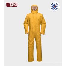 Bata para hombre impermeable del desgaste de la lluvia del traje del workwear de la PU al por mayor