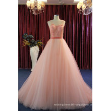 Fashion Lace Velvet Ball Prom Party Evening Gowns