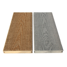 150x25mm solid classical 3d embossing wpc decking
